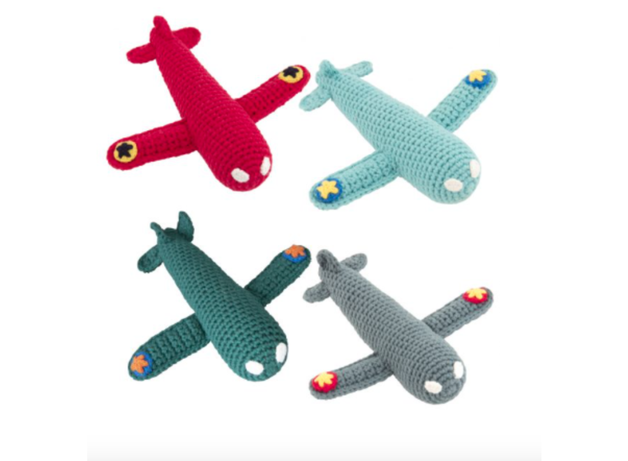 Global affairs Crochet rattle Airplane Petrol
