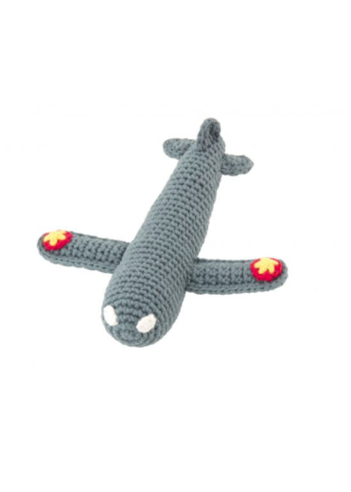 Global Affairs Global affairs Crochet rattle Airplane Dark Green