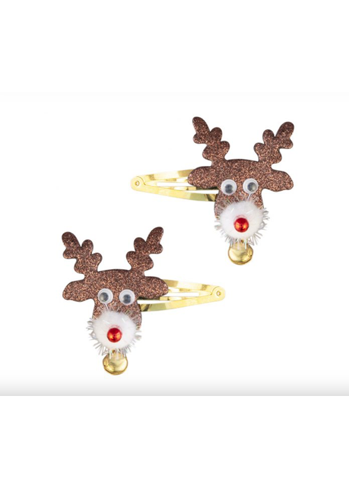Global Affairs Hairclips Reindeer face