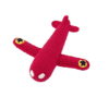 Global Affairs Global affairs Crochet rattle Airplane Red