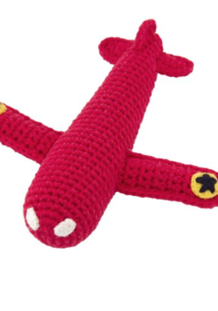 Global affairs Crochet rattle Airplane Red