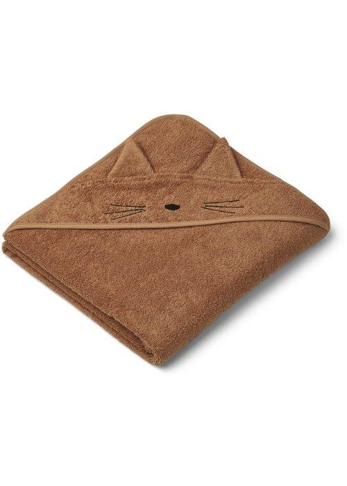 Liewood Liewood Augusta Hooded Towel Cat Terracotta