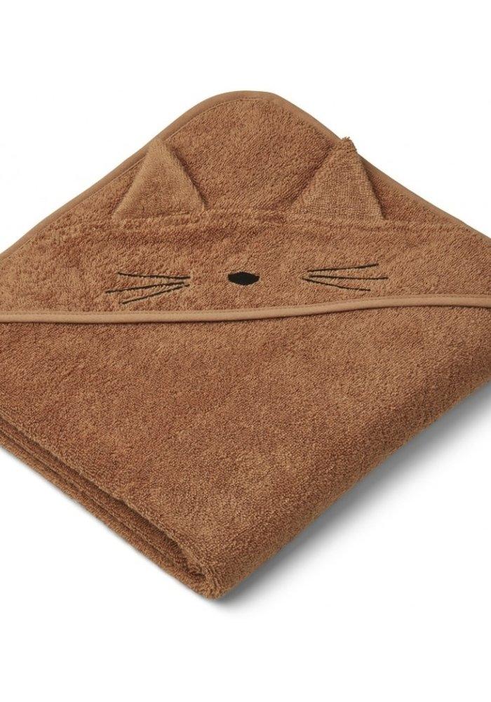 Liewood Augusta Hooded Towel Cat Terracotta