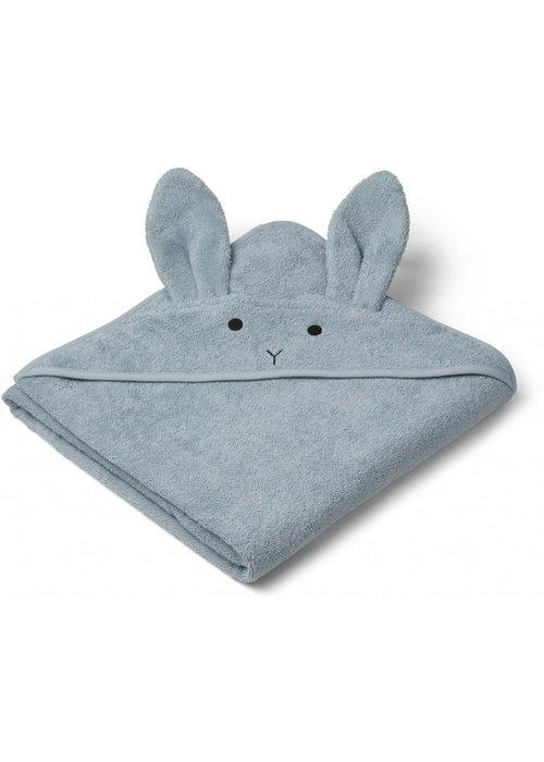 Liewood Liewood Augusta Hooded Towel Rabbit Sea Blue