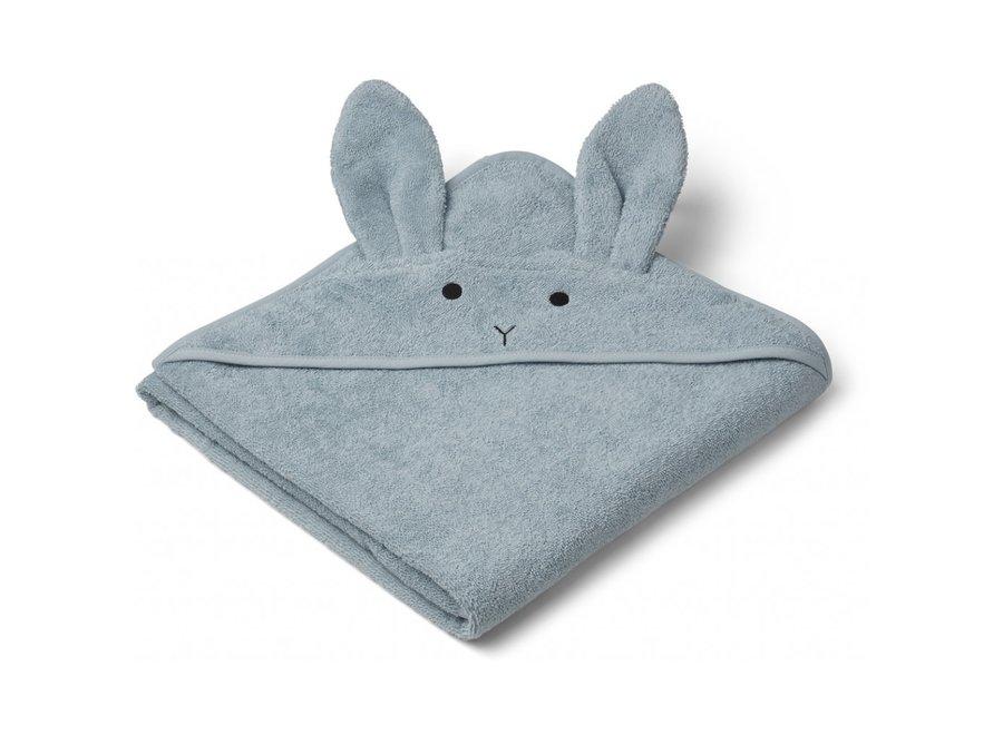 Liewood Augusta Hooded Towel Rabbit Sea Blue