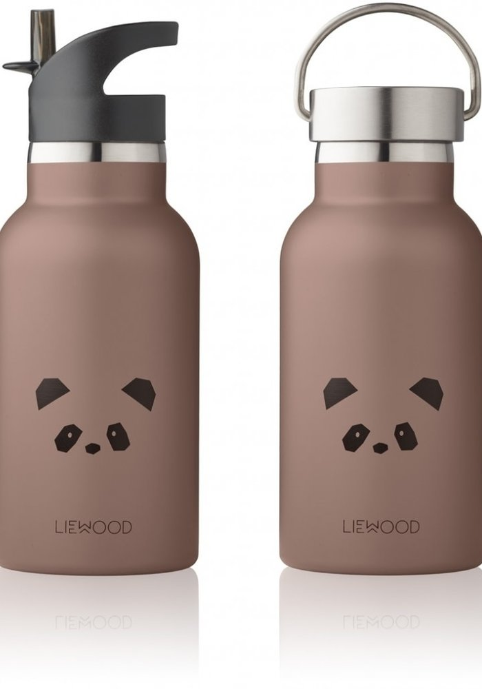 Liewood Anker Water Bottle - Panda Dark Rose
