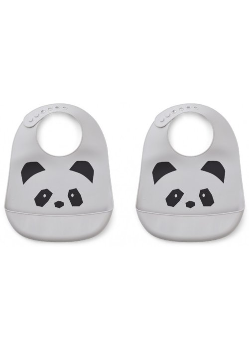 Liewood Liewood Tilda Sillicone Bib Panda Dumbo Grey (1 piece)