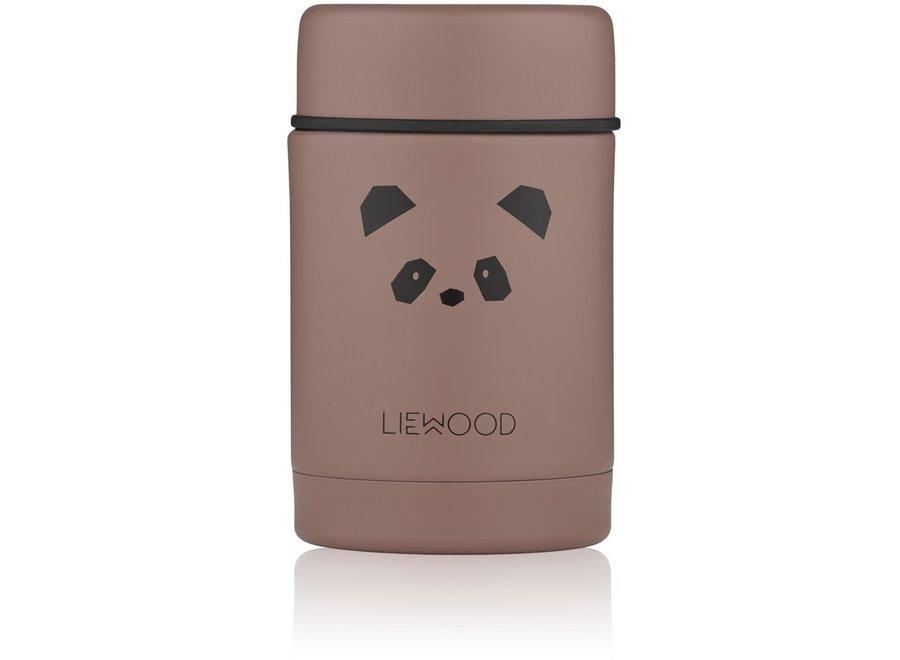 Liewood Nadja Food Jar Panda Dark Rose