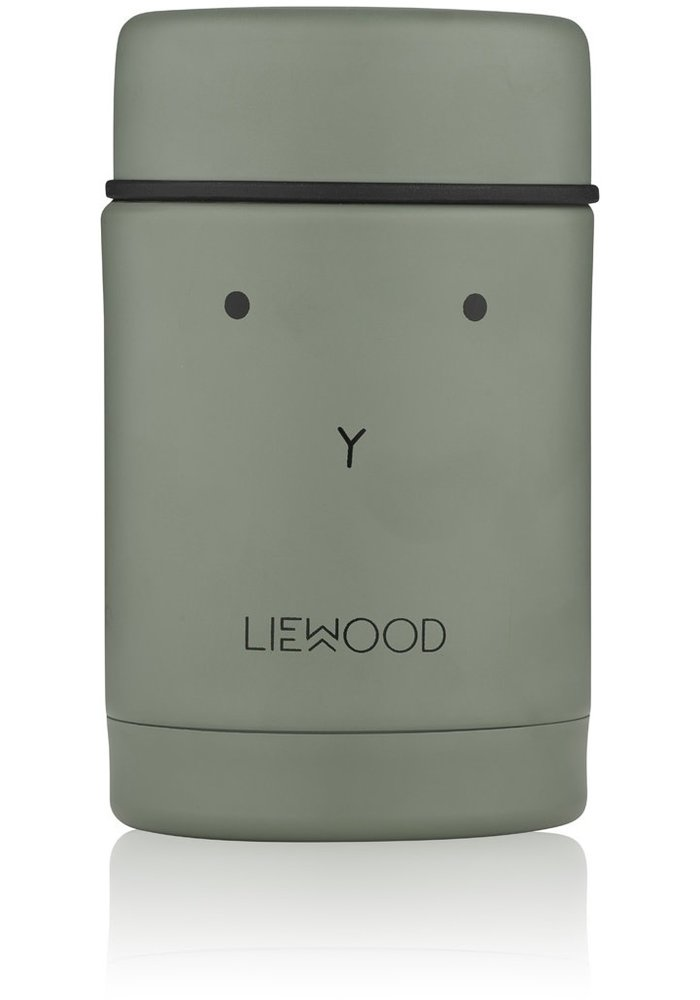 Liewood Nadja Food Jar Rabbit Faune Green