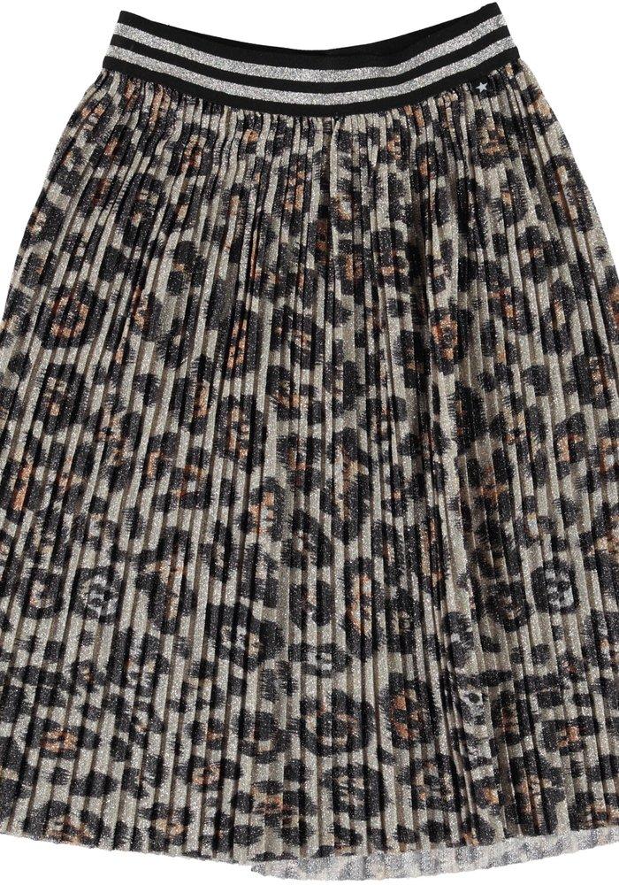 Molo Bailini Skirt Silver Leopard