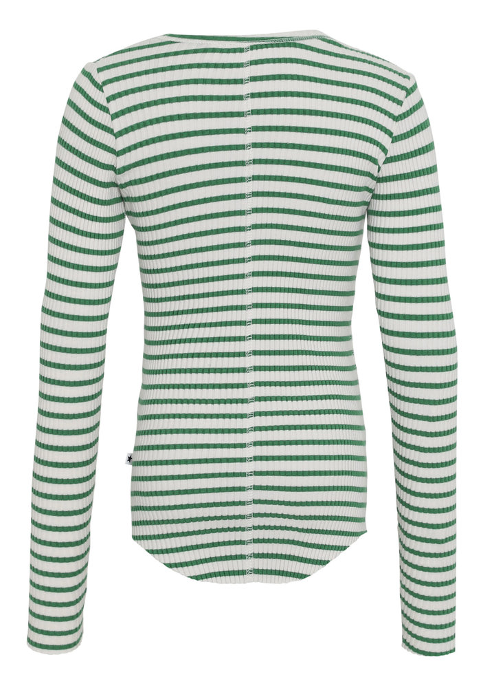 Molo Rochelle T-shirt LS Jungle Ivory Stripe
