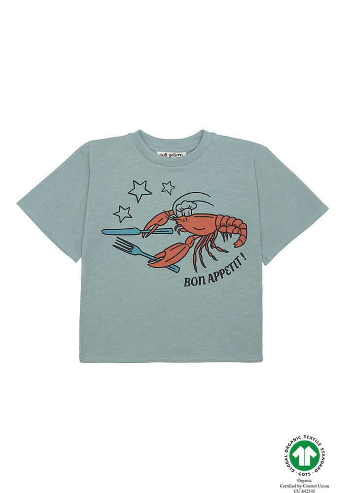 Soft Gallery Asger T-shirt Jadeite Bon Appetit
