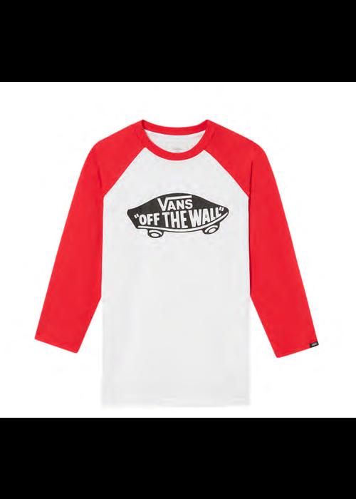 VANS Vans Classic Raglan Tee White/Racing Red