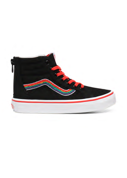 VANS Vans Old UY SK8-Hi Zip (CHENILLE) Rainbow Black/True White