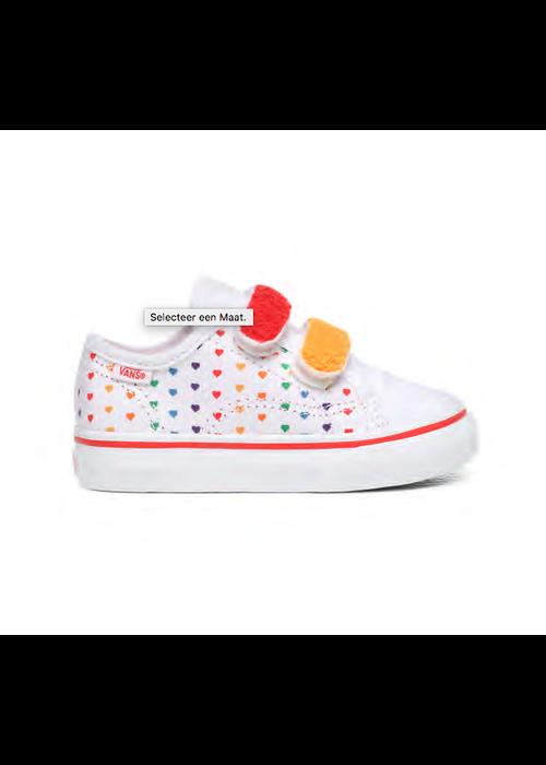 VANS Vans Toddler Chenille Rainbow Heart True White
