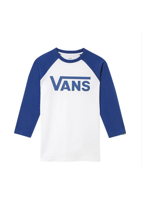 VANS Vans Classic Raglan Tee White/Sodalite Blue