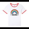 VANS Vans Tee Rainbow Patch White/Racing Red