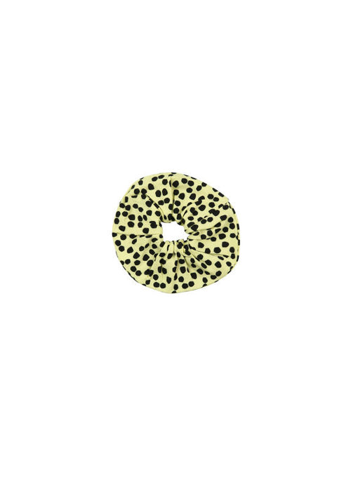 Wauw Capow by BangBang CPH Wauw Capow Scrunchie Yellow with Black Dots