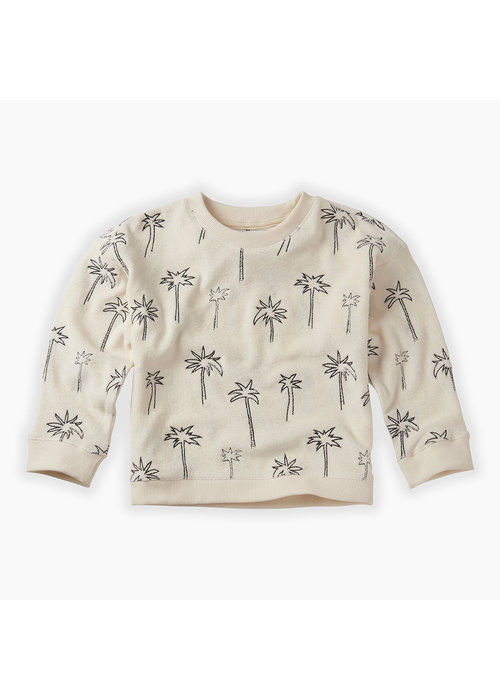 Sproet & Sprout Sproet & Sprout Sweatshirt Terry Palm Tree