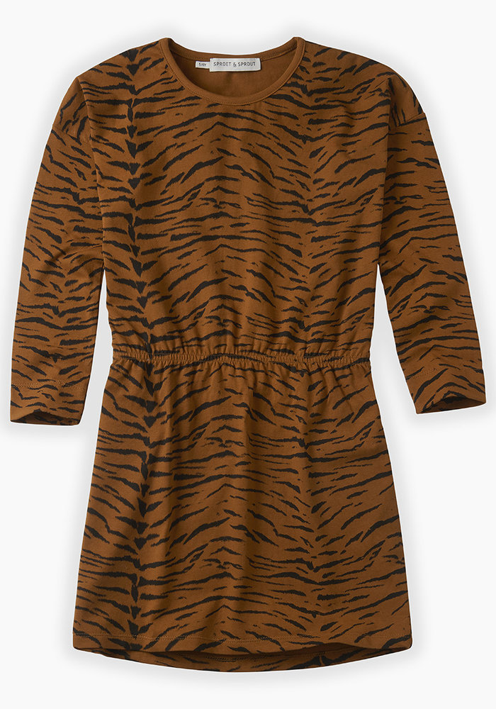 Sproet & Sprout Dress Tiger Print Caramel