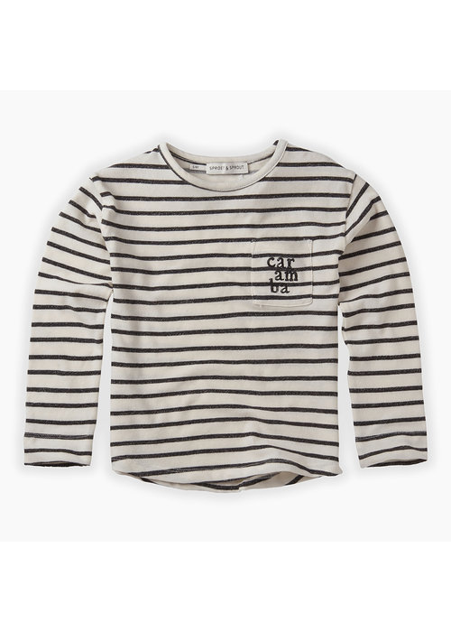 Sproet & Sprout Sproet & Sprout T-shirt LS Stripe Summer White