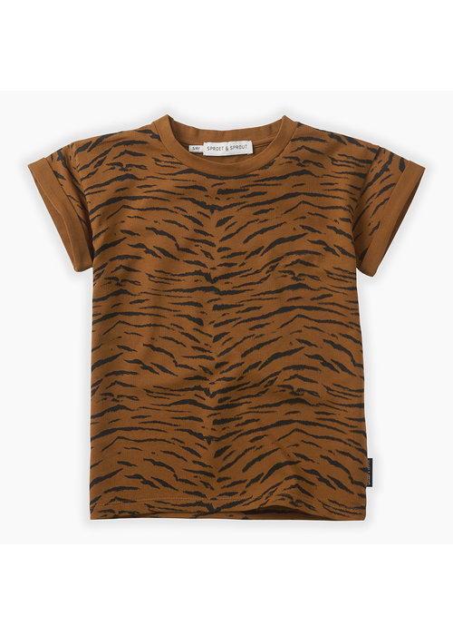 Sproet & Sprout Sproet & Sprout T-shirt Tiger Print Caramel