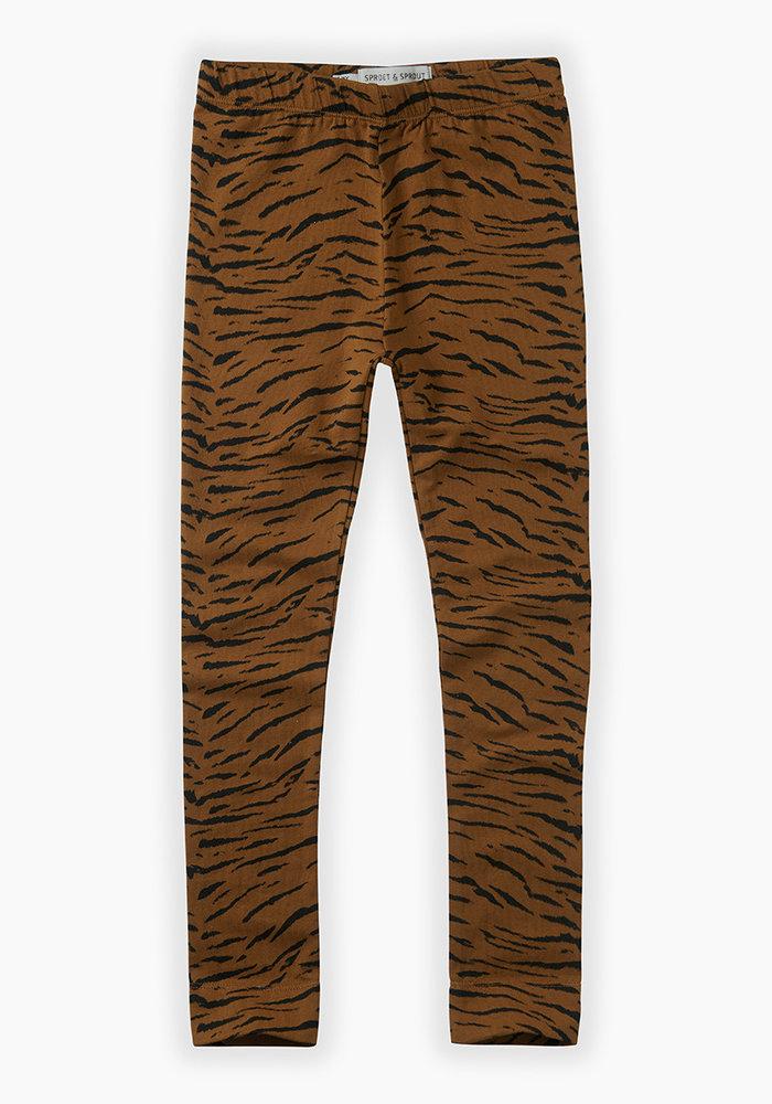 Sproet & Sprout Legging Tiger Print Caramel