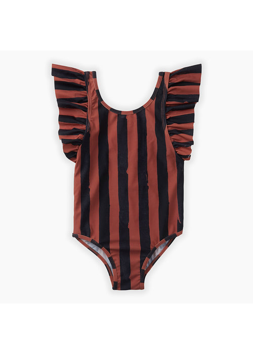 Sproet & Sprout Sproet & Sprout Swimsuit Painted Stripe Mango