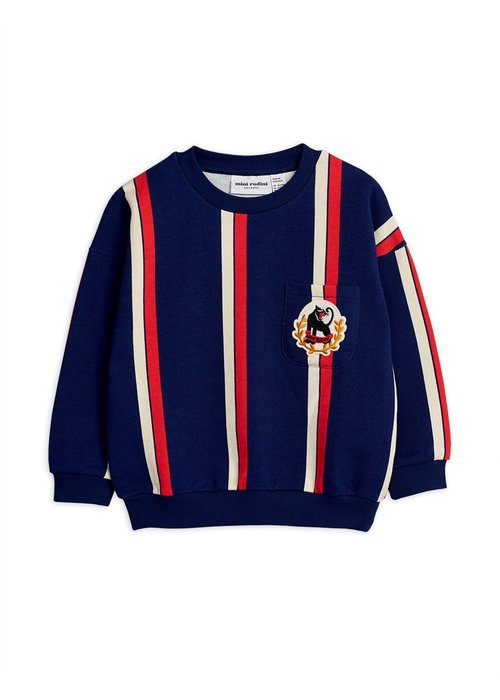 Mini Rodini Mini Rodini Stripe Sweatshirt Blue