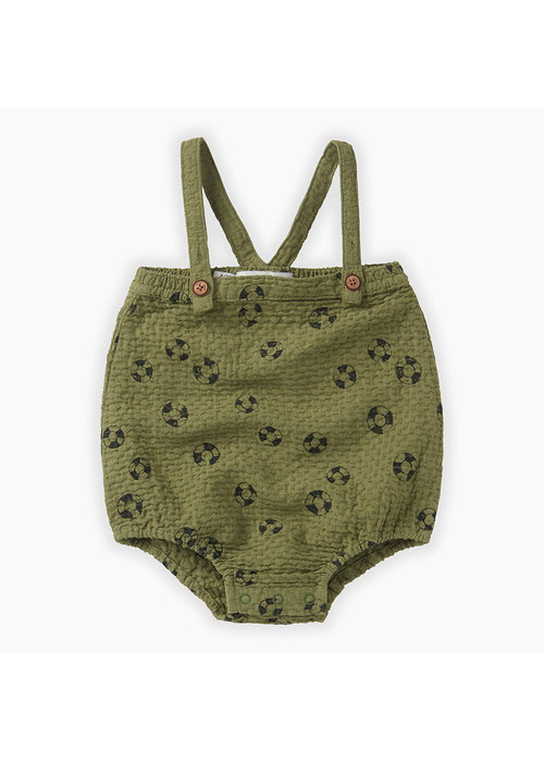 Sproet & Sprout Sproet & Sprout Romper Straps Print Lifebuoy Tropical green