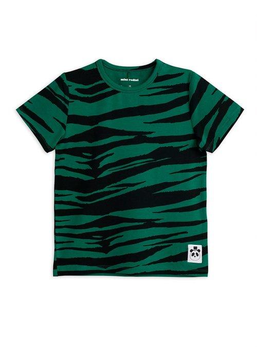 Mini Rodini Mini Rodini Tiger SS Tee Green