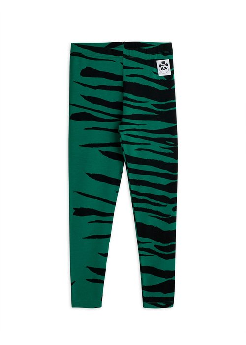 Mini Rodini Mini Rodini Tiger Legging  Green