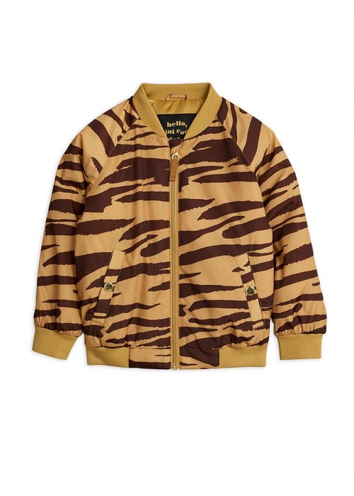 Mini Rodini Mini Rodini Tiger Baseball Jacket Brown
