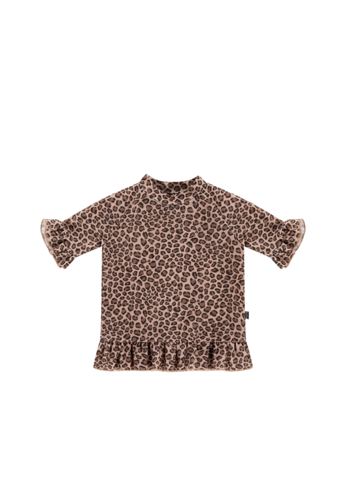 House of Jamie House of Jamie Frill Uv Top Caramel Leopard