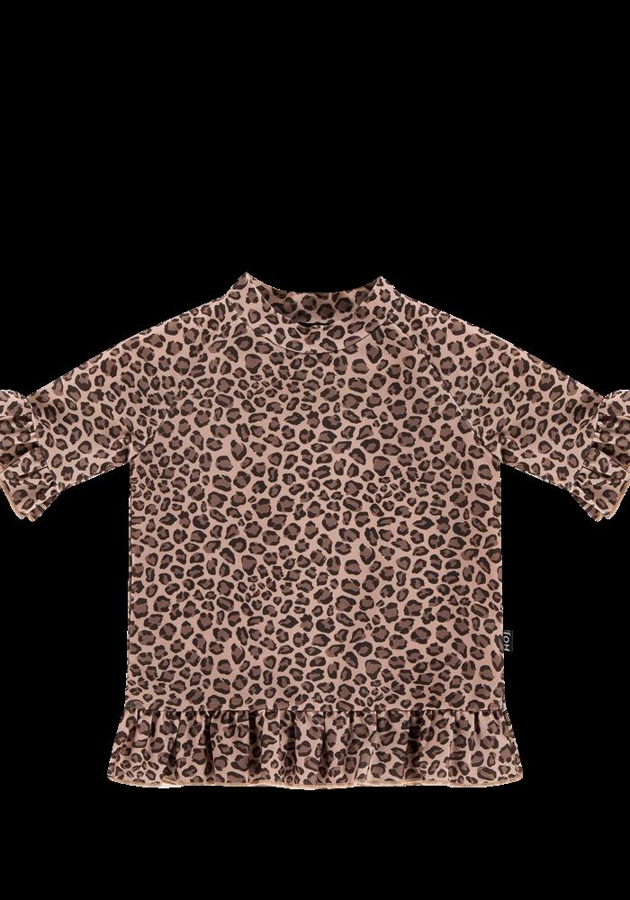 House of Jamie Frill Uv Top Caramel Leopard