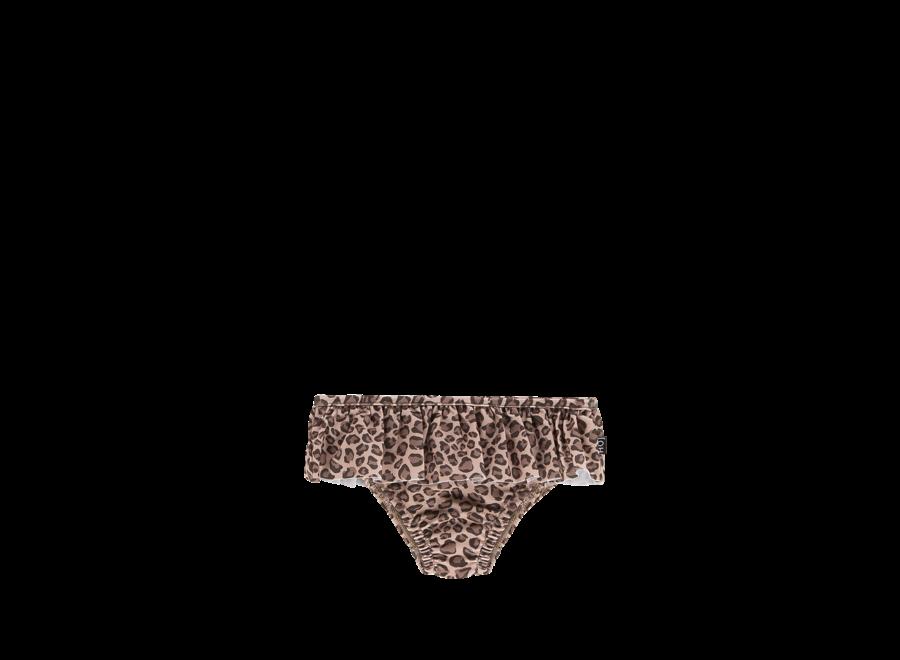 House of Jamie Fringe Bikini Bottom Caramel Leopard