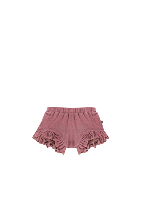 House of Jamie House of Jamie Ruffled Shorts Orchid Terry