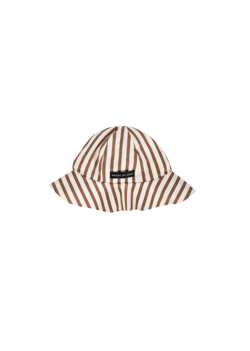 House of Jamie House of Jamie Summer Hat Toffee Stripes