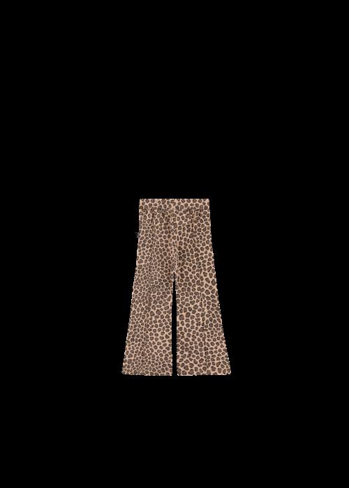 House of Jamie House of Jamie Flared Pants Caramel Leopard