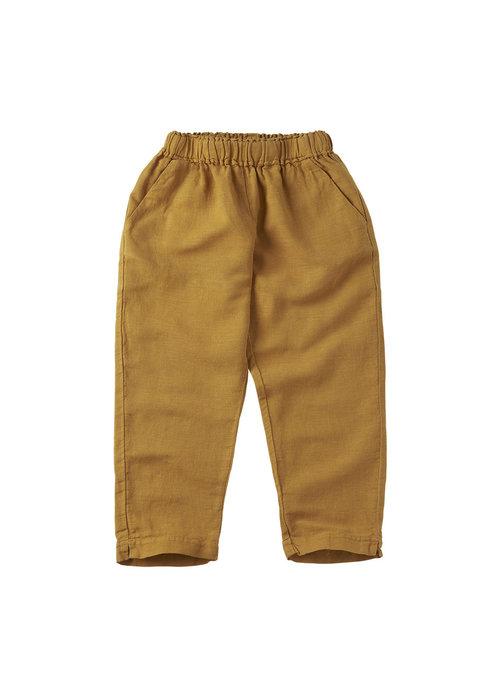 Mingo Mingo Linen Trouser Spruce Yellow