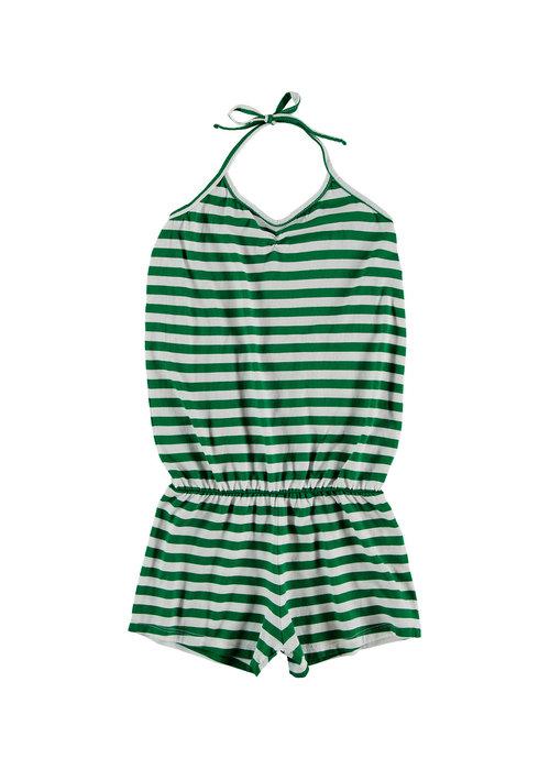 Yporqué Yporqué Green Tie Jumpsuit Green stripes