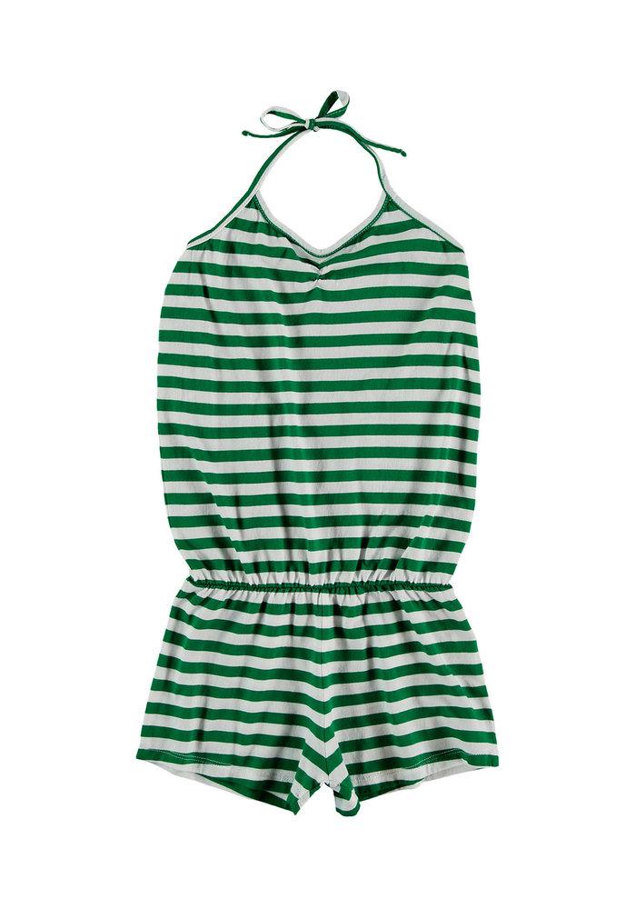 Yporqué Green Tie Jumpsuit Green stripes