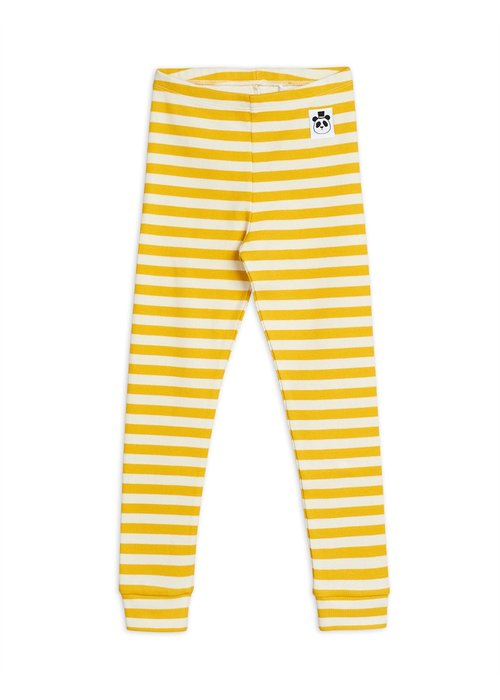 Mini Rodini Mini Rodini Stripe Rib Legging Yellow