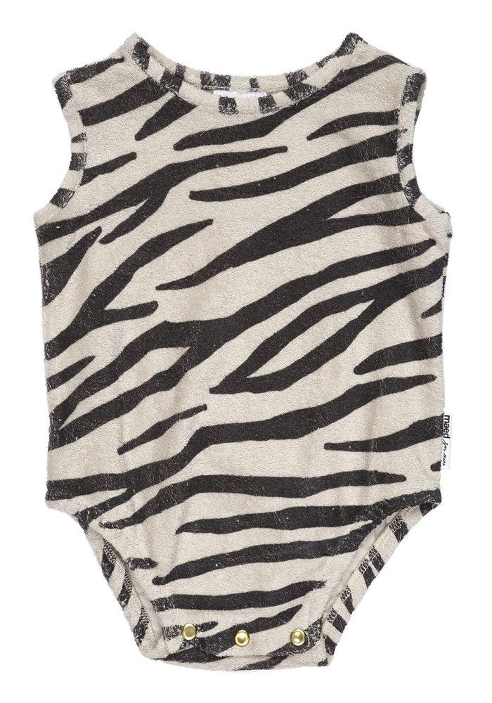 Maed for Mini Smiling Zebra Bodysuit