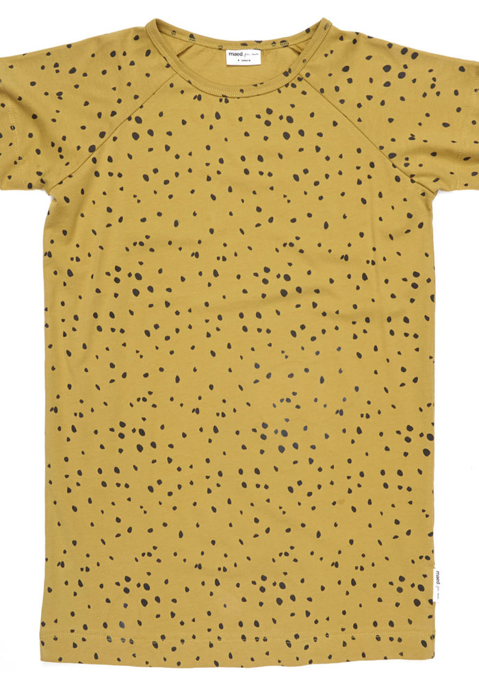 Maed for Mini Ochre Ocelot T-shirt Dress