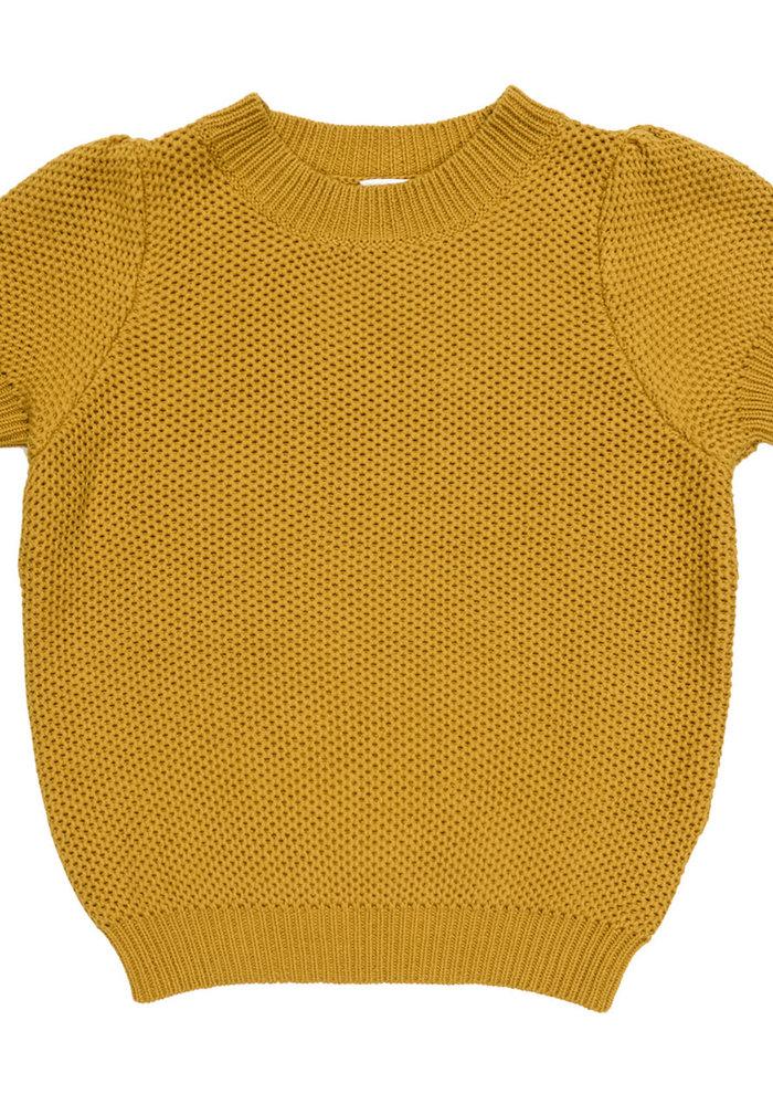 Maed for Mini Golden Grasshopper Knit Top