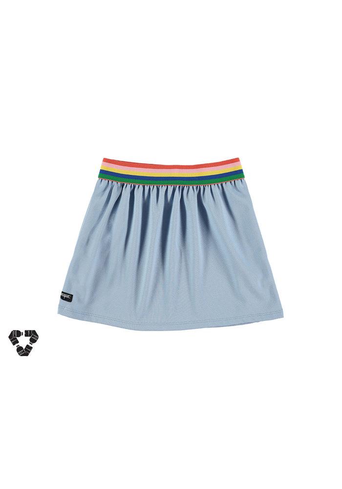 Yporqué Recycled Tech Skirt Pastel Blue