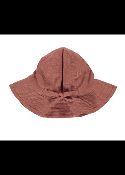 MarMar MarMar Alba Baby Structure Muslin Hat Dusty Brick