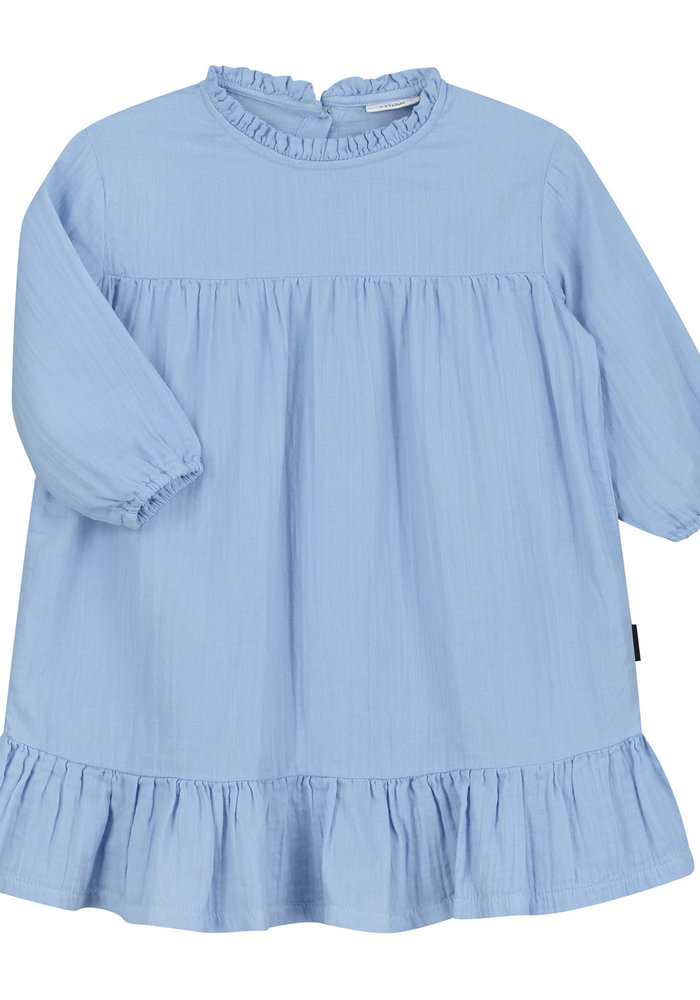 Daily Brat Lois Oversized Ruffle Dress Serenity Blue