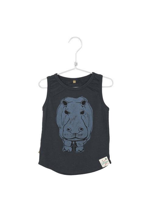Lötiekids Lötiekids Tank Top Hippo Washed Black